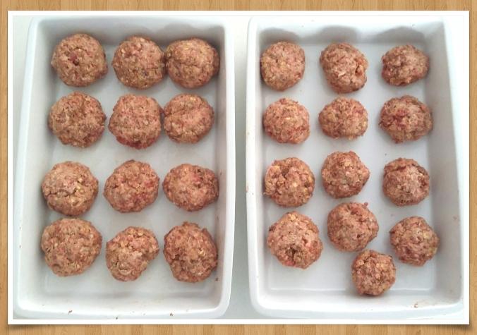 Prepared meatballs