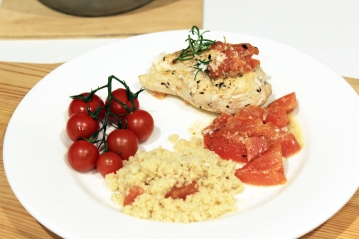Chicken_steamed papaya-cous cous