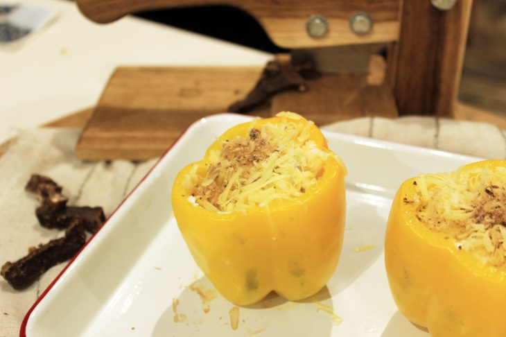 Filled yellow pepper
