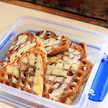 Lunch_Banana bread waffle with butter