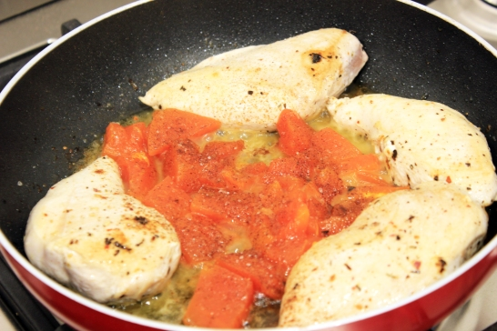 Pan fry_chicken_butter_steamed papaya_nutmeg